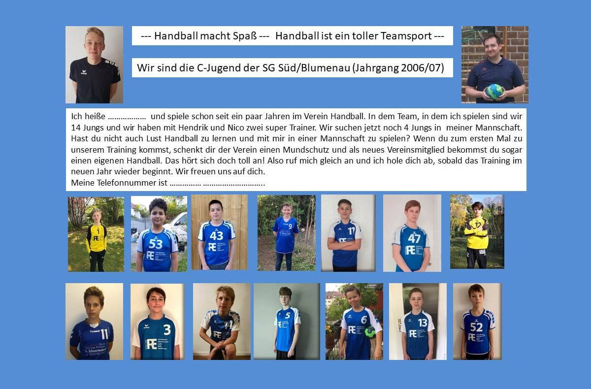 Handball SG Süd/Blumenau News - Training auch in Coronazeiten